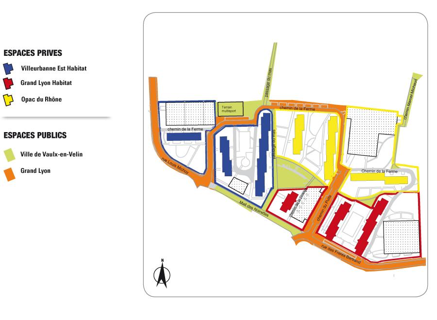 Gestion urbaine noirettes grand mas projets par for Piscine vaulx en velin