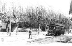 Le tramway au village © Archives municipales